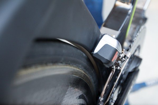 Take care to leave sufficient clearance between the tire and the seat tube.