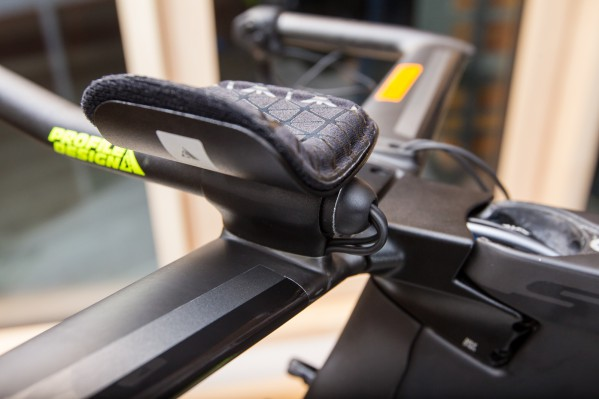 A rubber grommet protects the cables and keeps them in position.