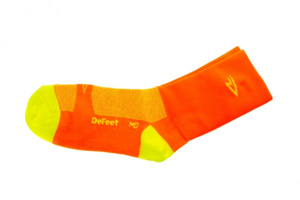 "DeFeet Aireator 5"" Hi-Vis Orange Endurance Socks"